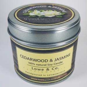 Cedarwood & Jasmine Jar Candle
