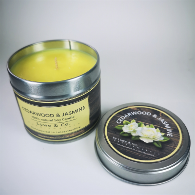 Cedarwood & Jasmine - Tin Candle