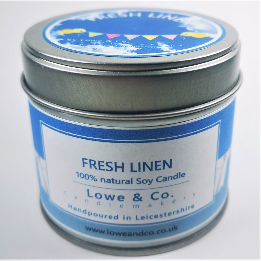 Fresh Linen - Tin Candle 20cl