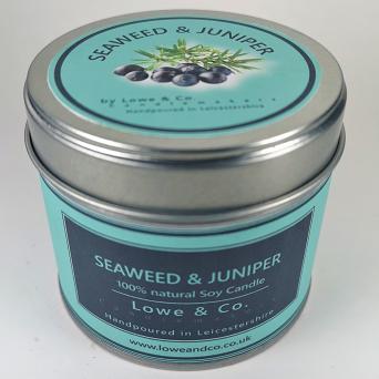 Seaweed & Juniper - Tin Candle