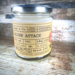Alien Attack Jar Candle