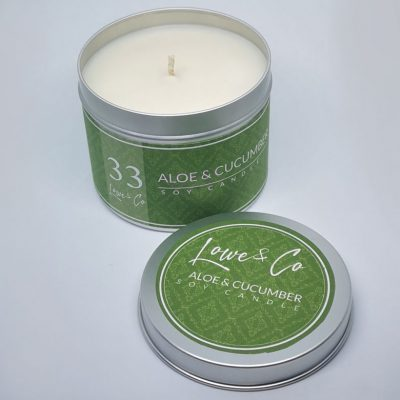 Aloe Vera & Cucumber Soy Tin Candle