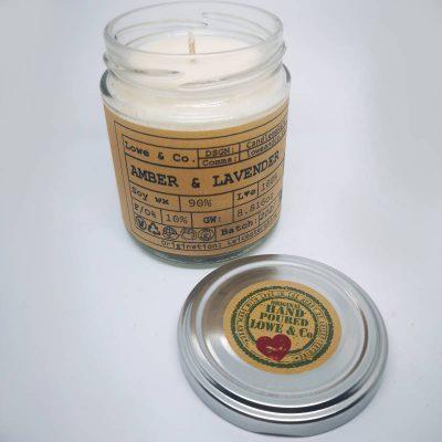 Amber & Lavender Jar Candle