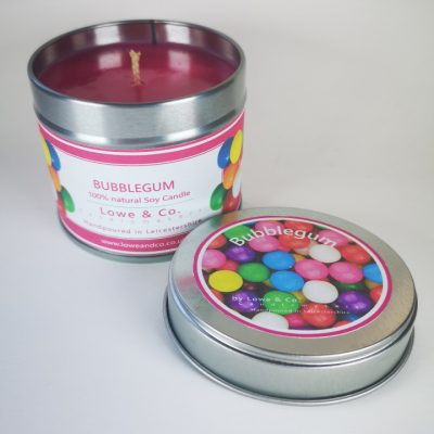 Bubblegum tin Candle