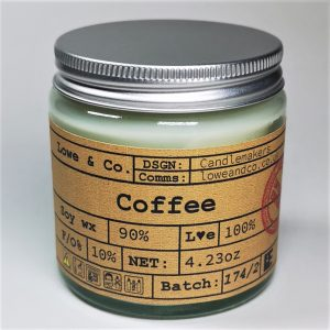 Coffee-Clear-glass-candle