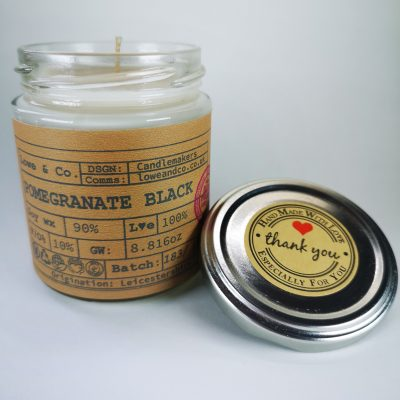 Pomegranate Black Jar Candle