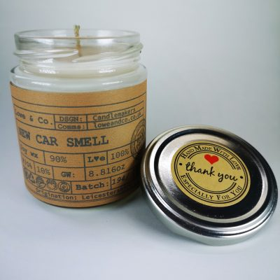 New Car Smell Jar Candle