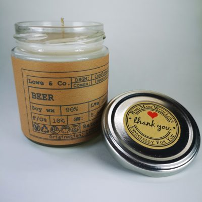 Beer Jar Candle