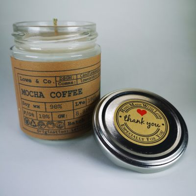 Mocha Coffee Jar Candle