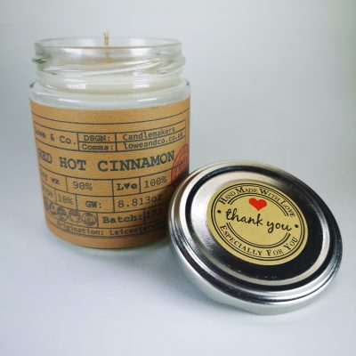 Red Hot Cinnamon Jar Candle