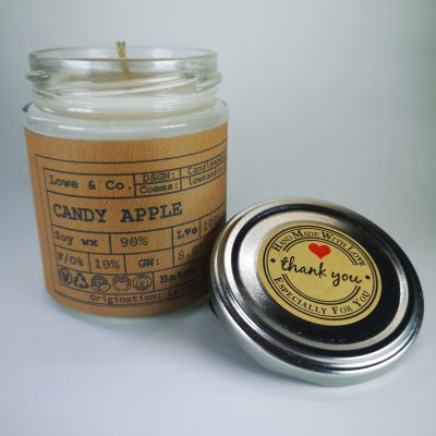 Candy Apple Jar Candle