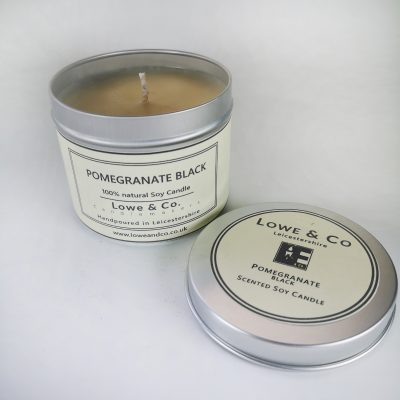 Pomegranate Black Tin Candle