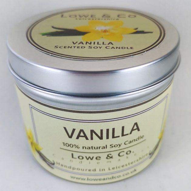 Vanilla Tin Candle