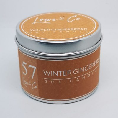 Winter Gingerbread Travel Candle