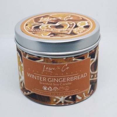 Winter Gingerbread Soy Tin Candle