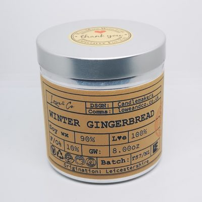 Winter Gingerbread Large Soy Tin Candle