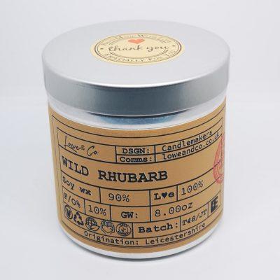 Wild Rhubarb Soy Tin Candle