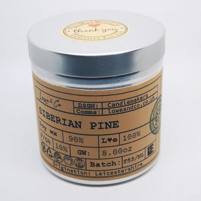 iberian Pine Large Soy Tin Candle