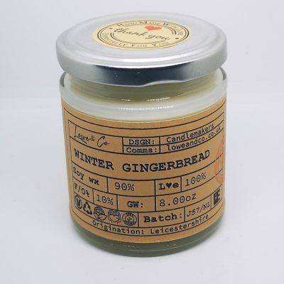 Winter Gingerbread Jar Candle