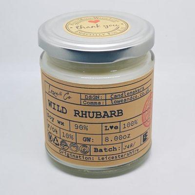 Wild Rhubarb Jar Candle
