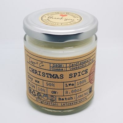 Christmas Spice Jar Candle