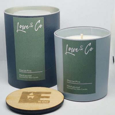 Siberian Pine Large Soy Glass Candle - 30cl