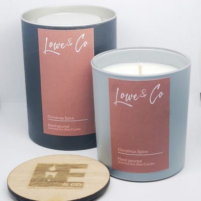 Christmas Spice Large Soy Glass Candle - 30cl