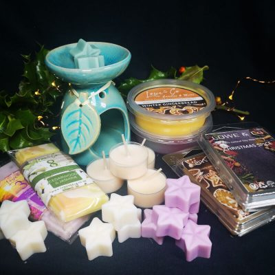 Teal Wax Burner Gift Set