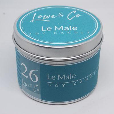 Le Male travel candle