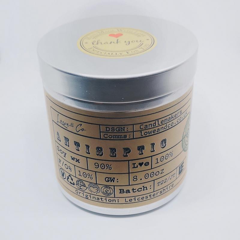 Antiseptic Fragrance Soy Tin Candle