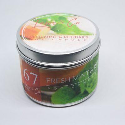 Fresh Mint & Rhubarb Travel candle
