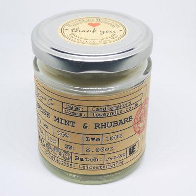 Fresh Mint & Rhubarb Jar Candle