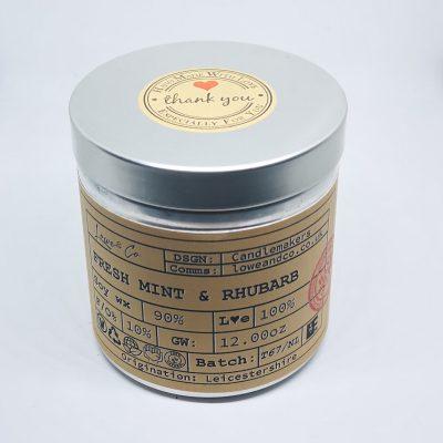 Fresh Mint & Rhubarb Soy Tin Candle