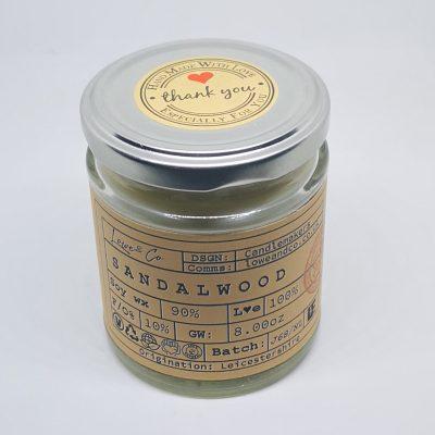 Sandalwood Jar Candle.