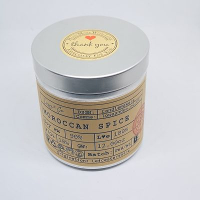 Moroccan Spice Soy Tin Candle