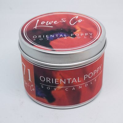 Oriental Poppy Travel candle
