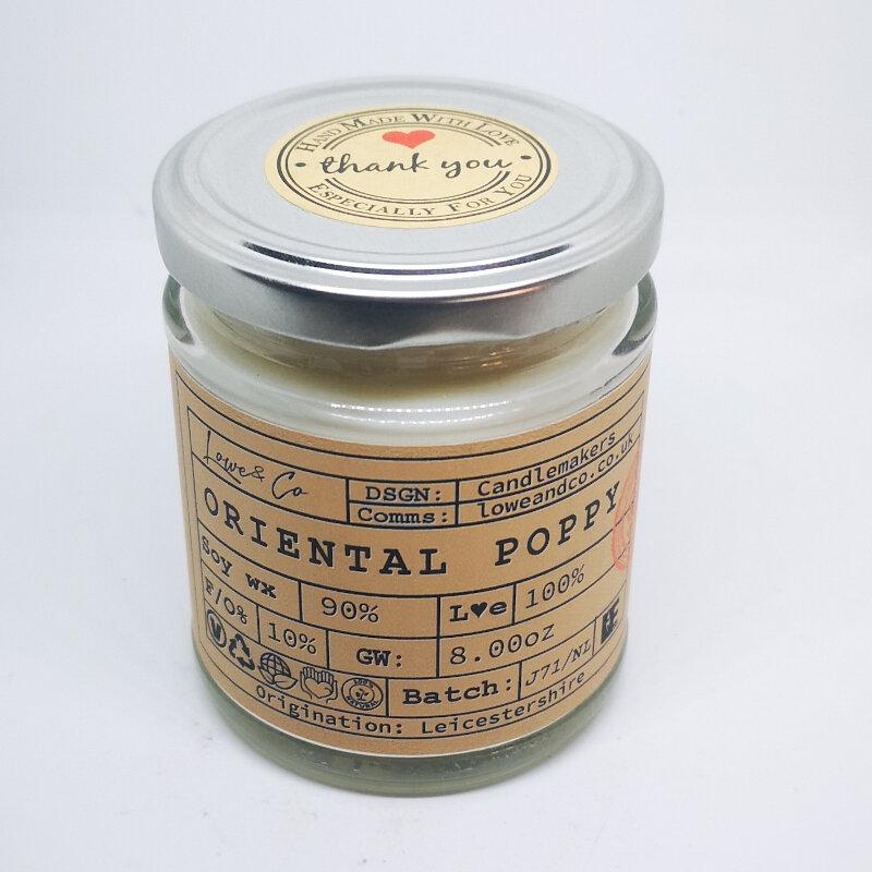 Oriental Poppy Jar Candle.
