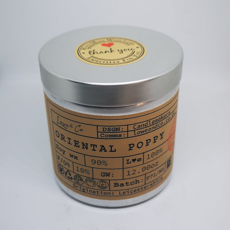 Oriental Poppy Soy Tin Candle