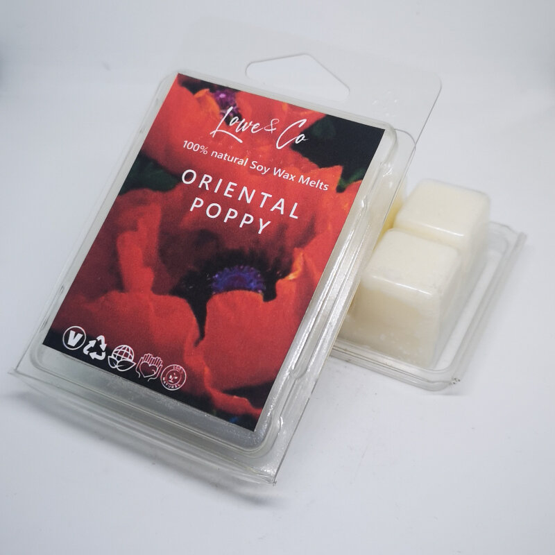 Oriental Poppy Clamshell Wax Melts