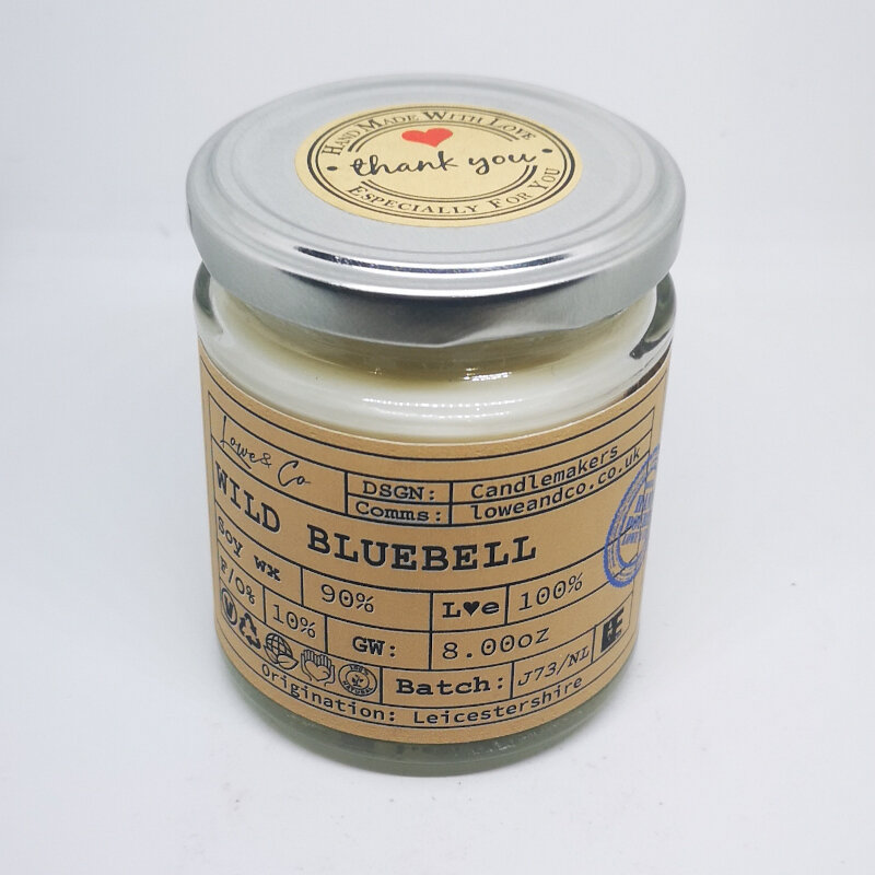 Wild Bluebell Jar Candle
