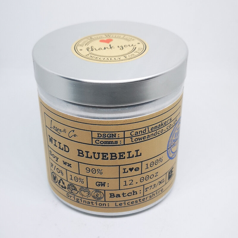 Wild Bluebell Soy Tin Candle