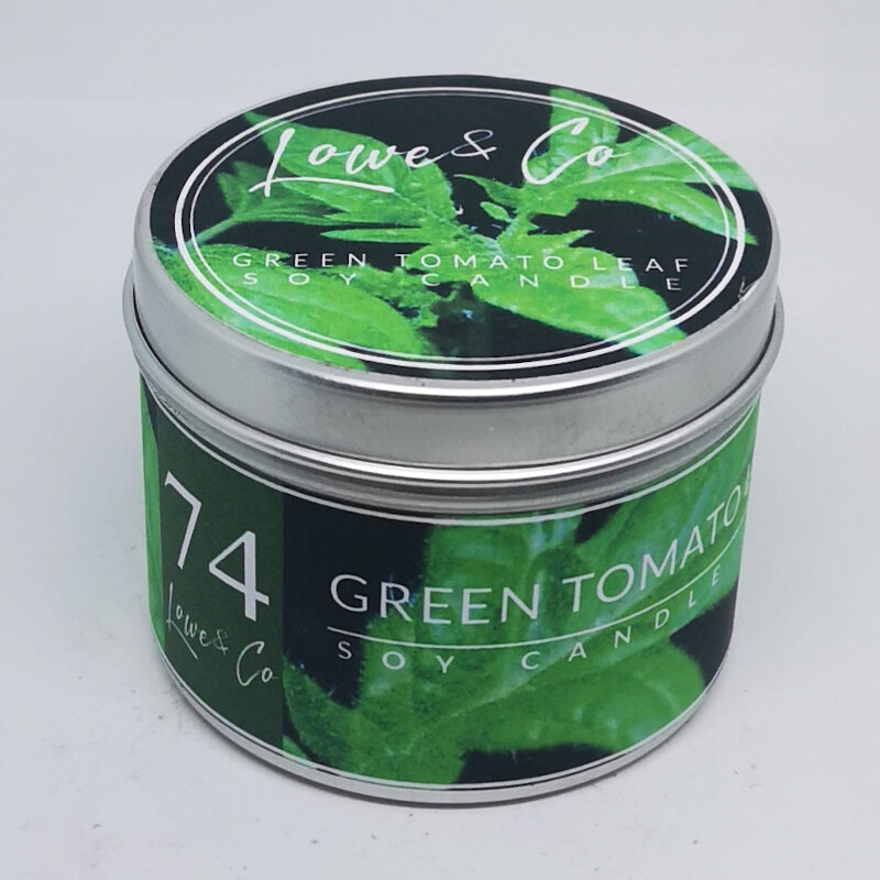 Green Tomato Leaf Travel candle