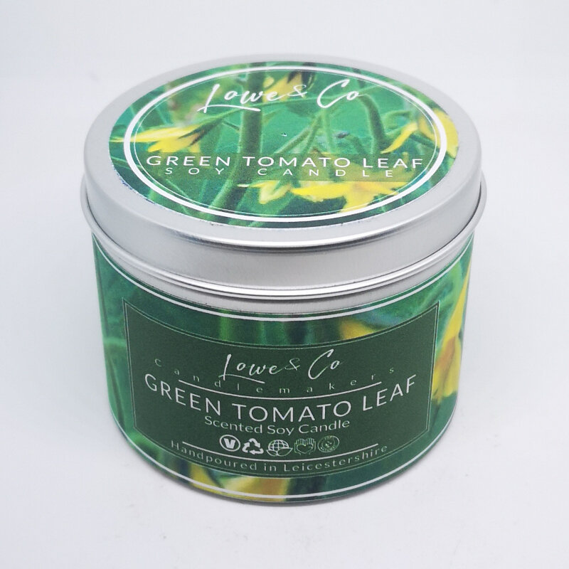 Green Tomato Leaf Soy Tin Candle