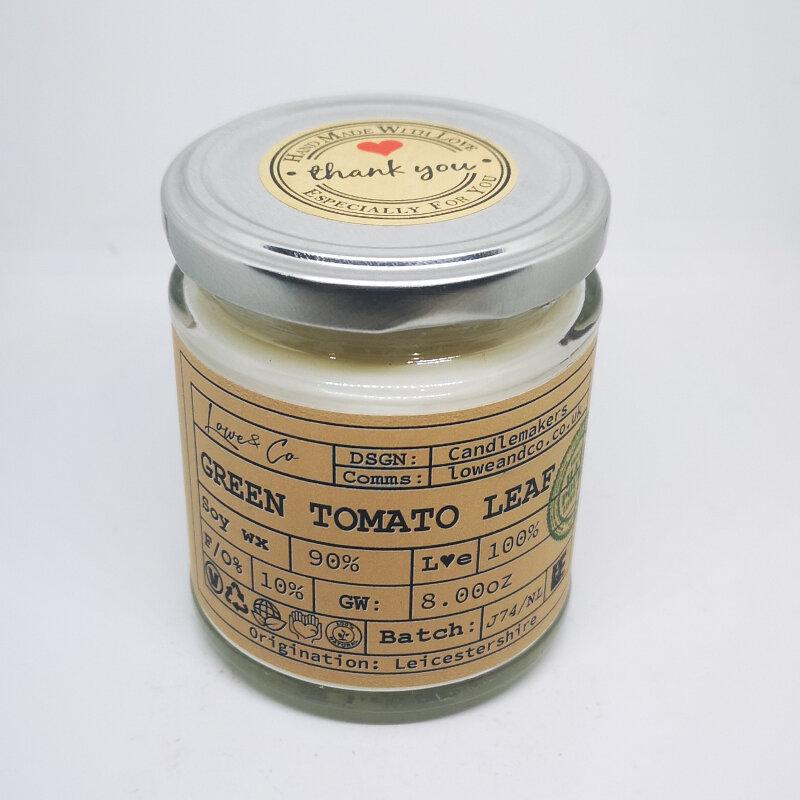 Green Tomato Leaf Jar Candle