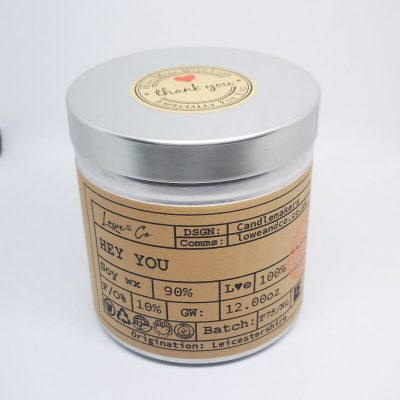 The Lowe & Co Hey You Soy Tin Candle