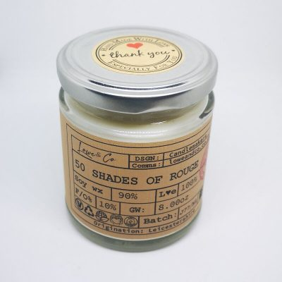 50 Shades of Rouge Jar Candle.