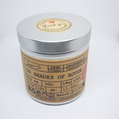 50 Shades of Rouge Soy Tin Candle