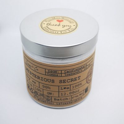 Mysterious Secret Soy Tin Candle