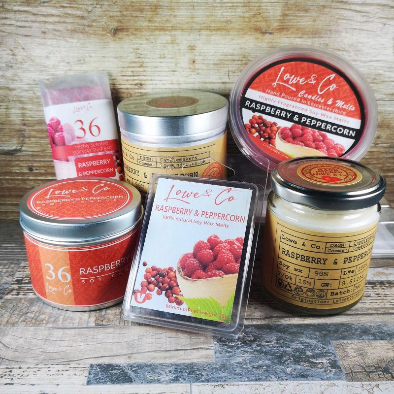 Raspberry & Peppercorn Jar Candle