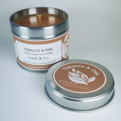 Tobacco & Oak - Tin Candle